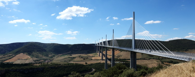 Viaduc de Millau, by Sir Norman Foster,  Aveyron, France. (2010)