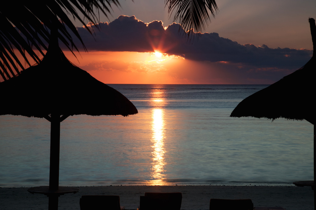 sunset seen from the resort