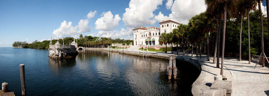 Vizcaya, on Biscayne Bay