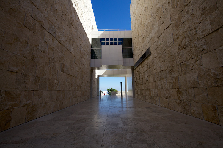 The Getty Center (detail), by Richard Meier, Los Angeles, CA, USA. (2013)