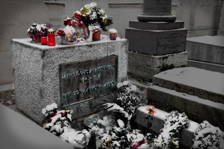 Jim Morrison's grave, Père Lachaise, Paris, France. (2010)