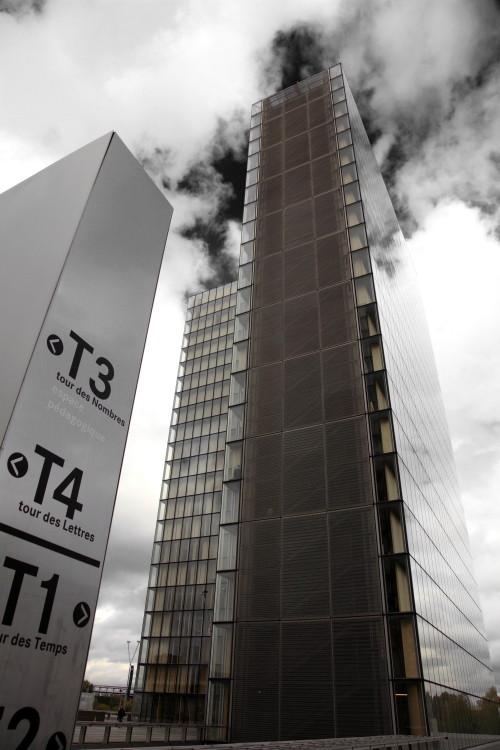 Bibliothèque Nationale de France Site François-Mitterrand, by Dominique Perrault,  Paris, France. (2009)