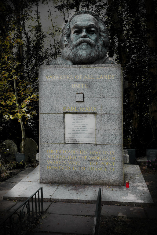 Karl Marx's grave, Highgate Cemetery Park, East Cemetery, London. (2011)