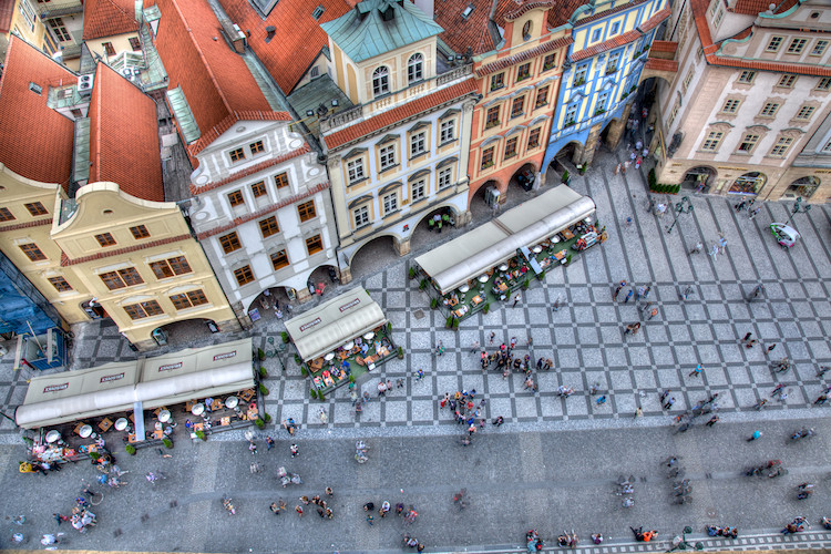 Old Town Square, view from the top