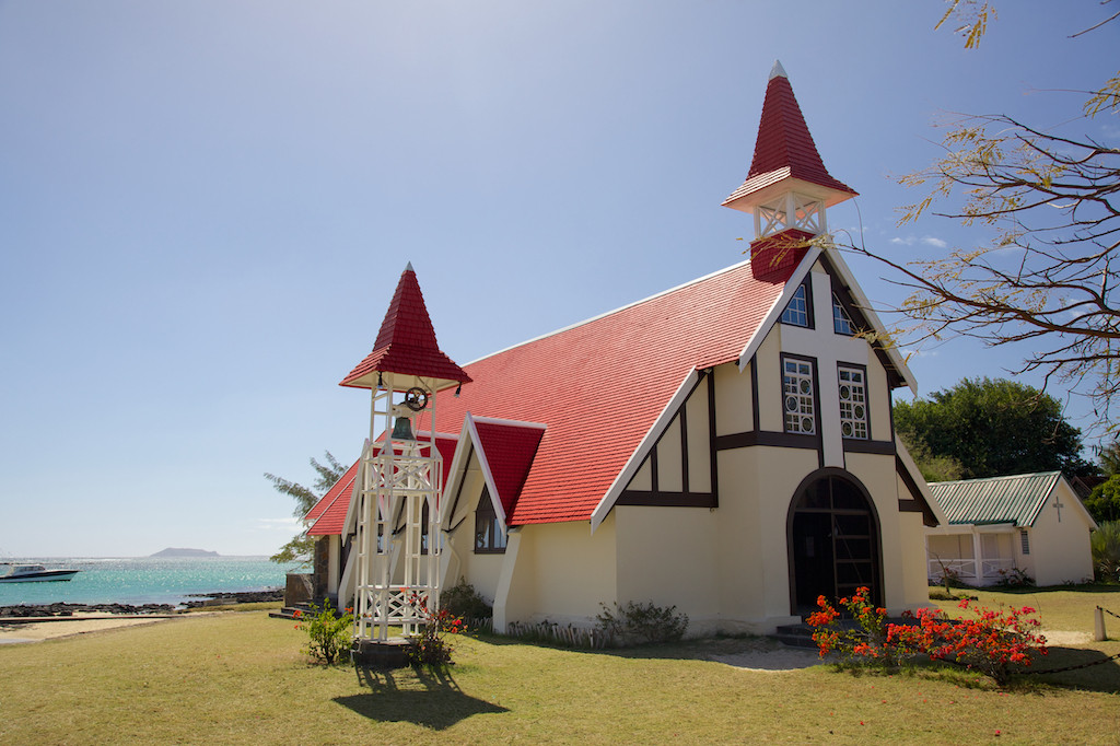 wooden church at Cap Malheureux, north coast