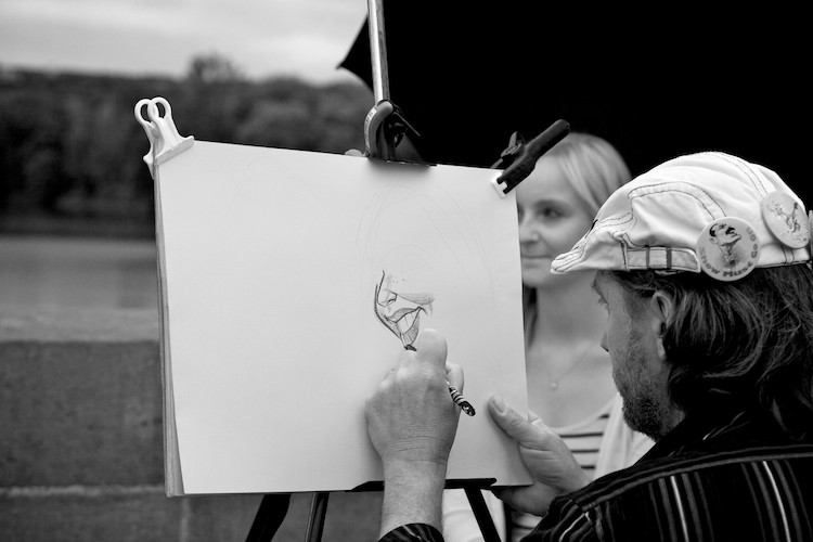 Artist on the Charles Bridge