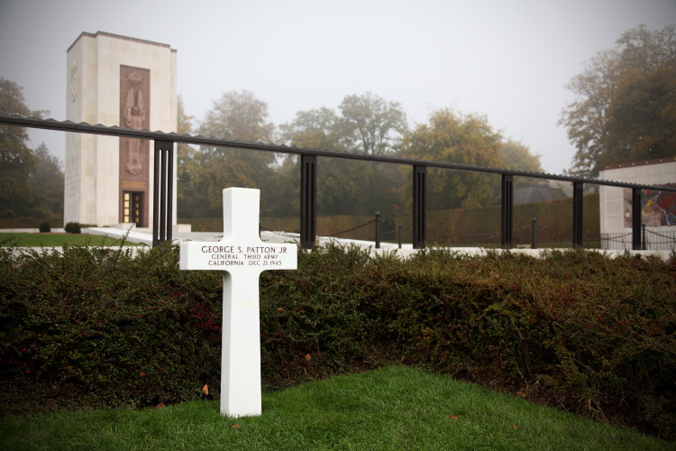 General Patton's grave, Luxembourg American Cemetery and Memorial, Luxembourg-Hamm. (2010)