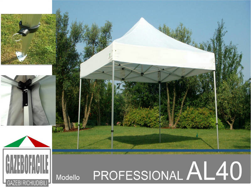 Gazebo per fiere PROFESSIONAL AL40mm