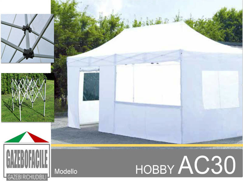 gazebo per fiere HOBBY AC30mm