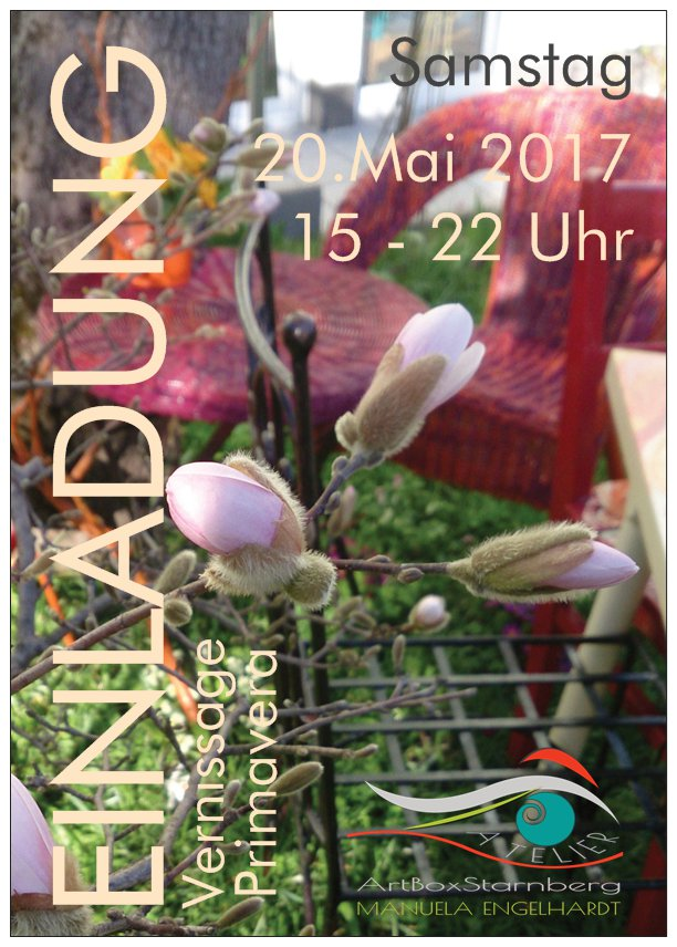 Friendly Reminder: Vernissage PRIMAVERA im Atelier ArtBoxStarnberg