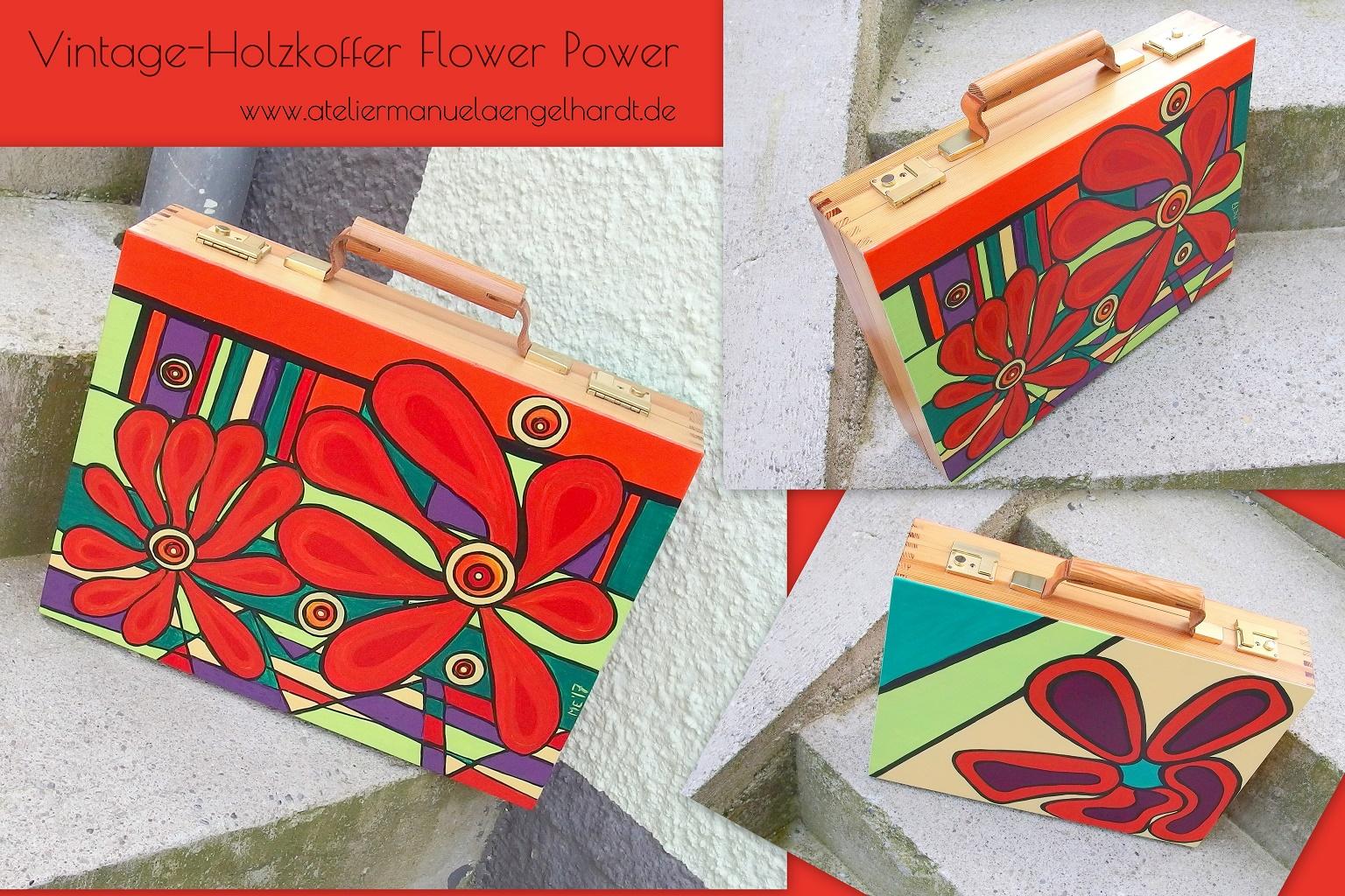 Flower Power Aktenkoffer, Holz - Nicht mehr verfügbar