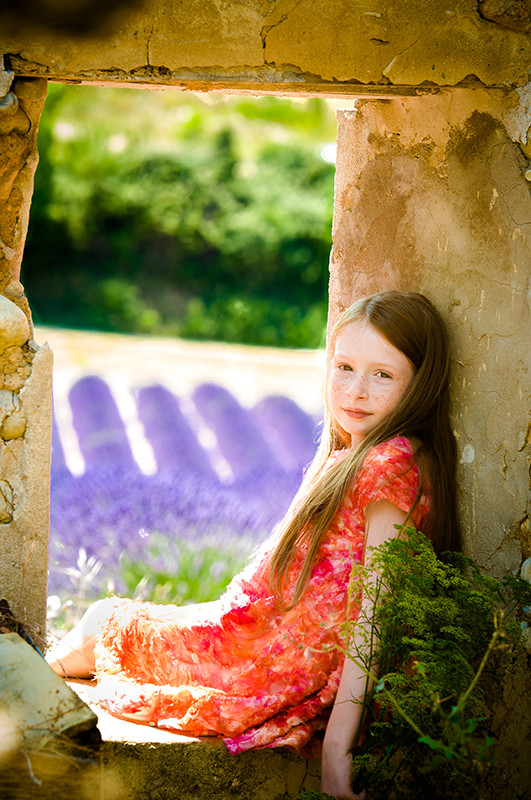 Photographie shooting pour kid's magazine valensole
