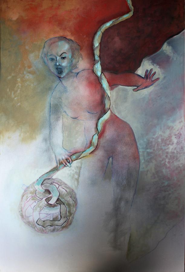 entstehung, öl, 2015