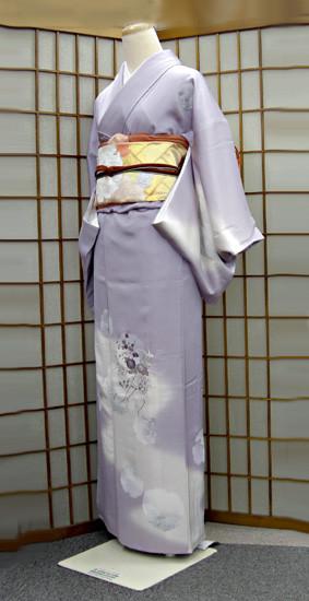 和装着物 訪問着 刺繍 紫系