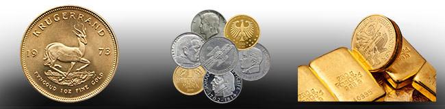 Krügerrand, Münzen und Goldbarren