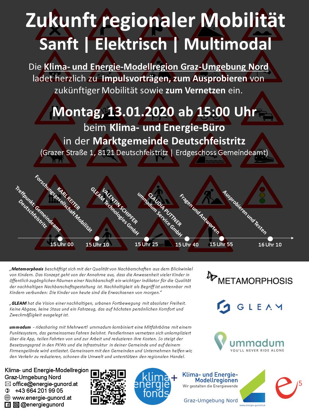 """Einladung zur Veranstaltung """"Zukunft regionaler Mobilität"""""""