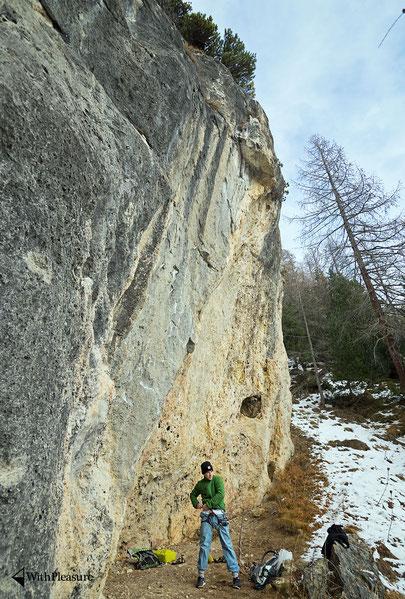 Ein wahnsinns Fels und unglaubliche Conditions im Engadin im frühen Winter!