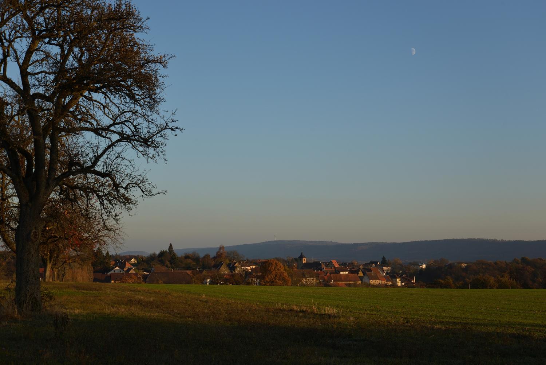 Spätherbst bei Ochsenburg mit Blick auf den östlichen Stromberg