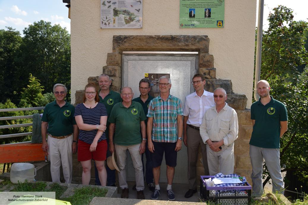 v.l.n.r.: Volker Dühring, Maike Loistl, Dieter Loistl, Karl Horvath, Andreas Jelinek, Dr. Plehn, BM Csaszar, Rüdiger Gaa, Albrecht v. Franztius