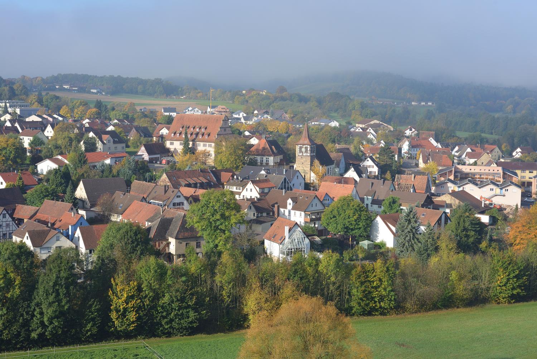 Zaberfeld im Herbst vom Spitzenberg gesehen