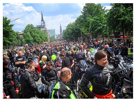 Motorrad Gottesdienst in Hamburg