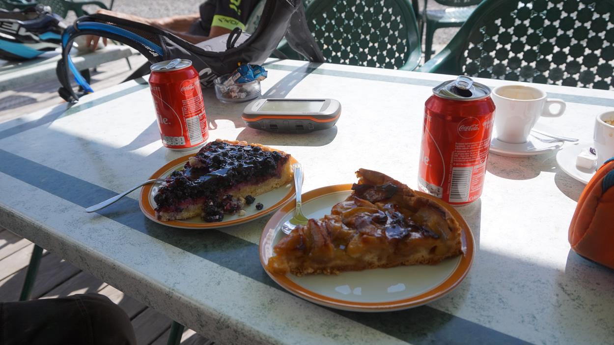 Teuerster Kuchen am Col de Vars - 20 Euro oder so :-(