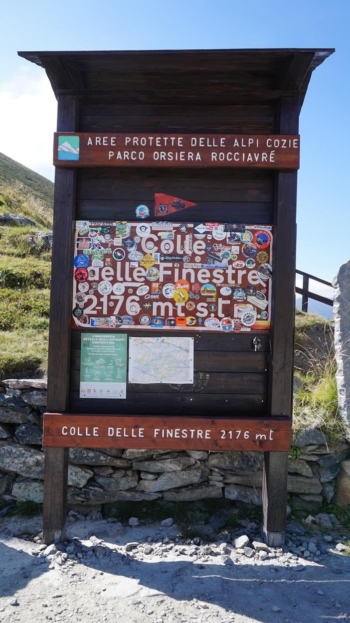 Gipfel des Finestre auf 2176m