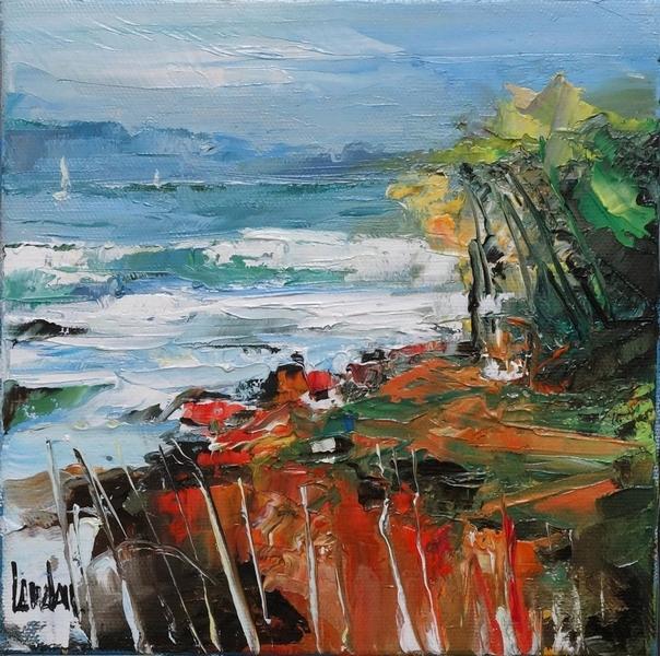 """""""A l'océan"""" - 20x20 - vendue"""