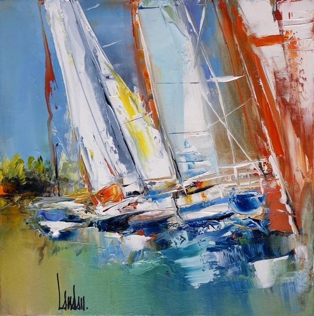 """Fling sails"" - 30x30"