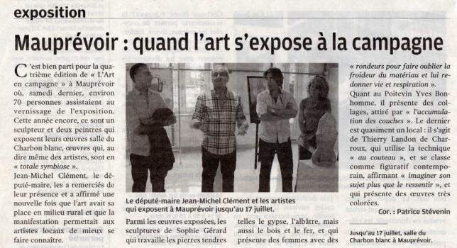 """Article """"La Nouvelle-République"""" du 11/07/11"""