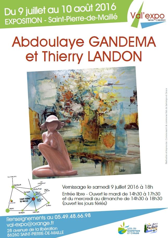 Exposition avec A. Gandema - Val'expo - St Pierre de Maillé (86)