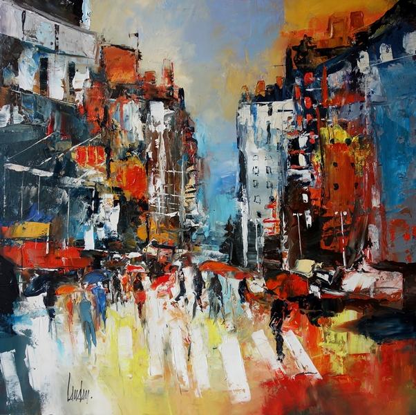 """Cadence street"" - 60x60 - vendue"