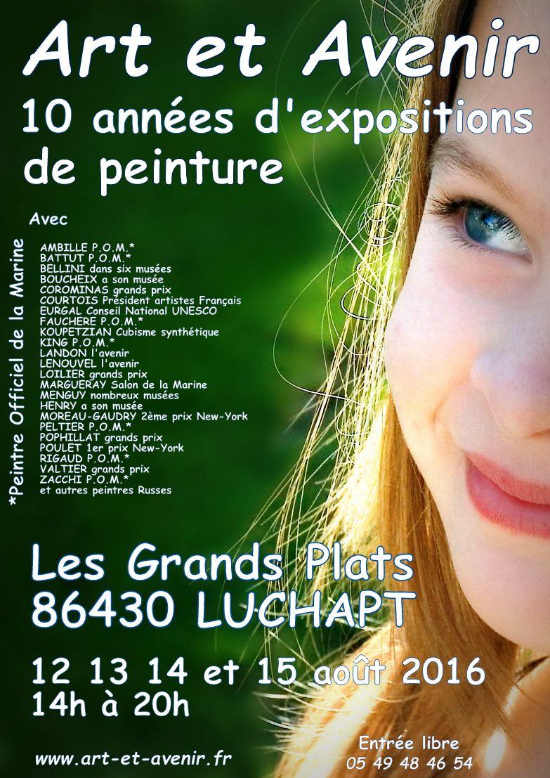 """Exposition à """"Art et avenir"""" - LUCHAPT (86) avec les """"Peintres de la Marine"""""""