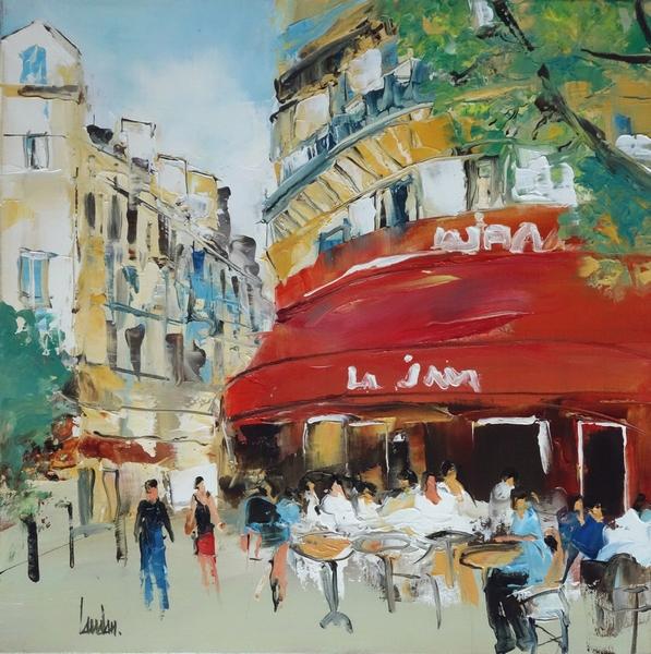 """""""Pause café"""" - 50x50"""