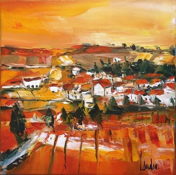 """""""Le hameau"""" - 25x25"""