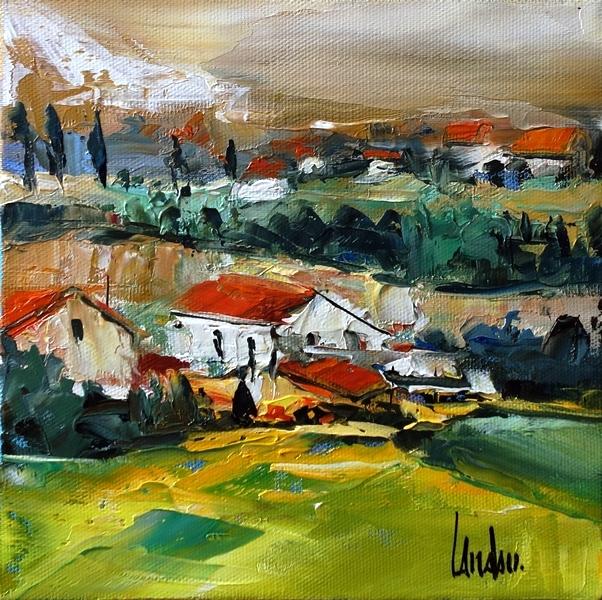"""""""Lointaine montagne"""" - 20x20 - vendue"""
