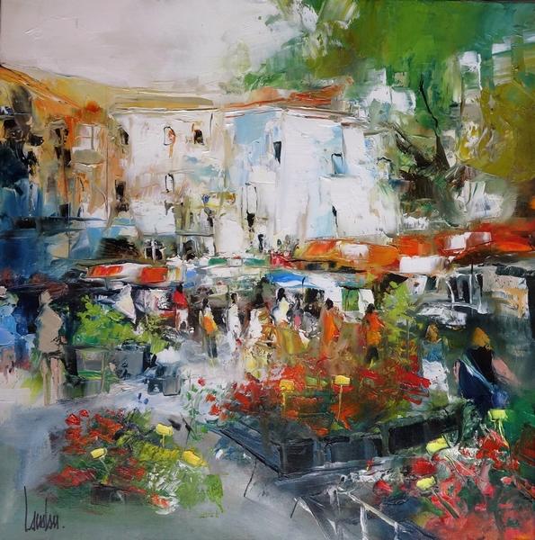 """""""Les floralies"""" - 60x60"""