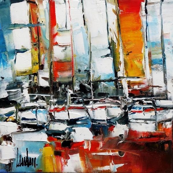 """""""Les L de mer"""" - 20x20"""