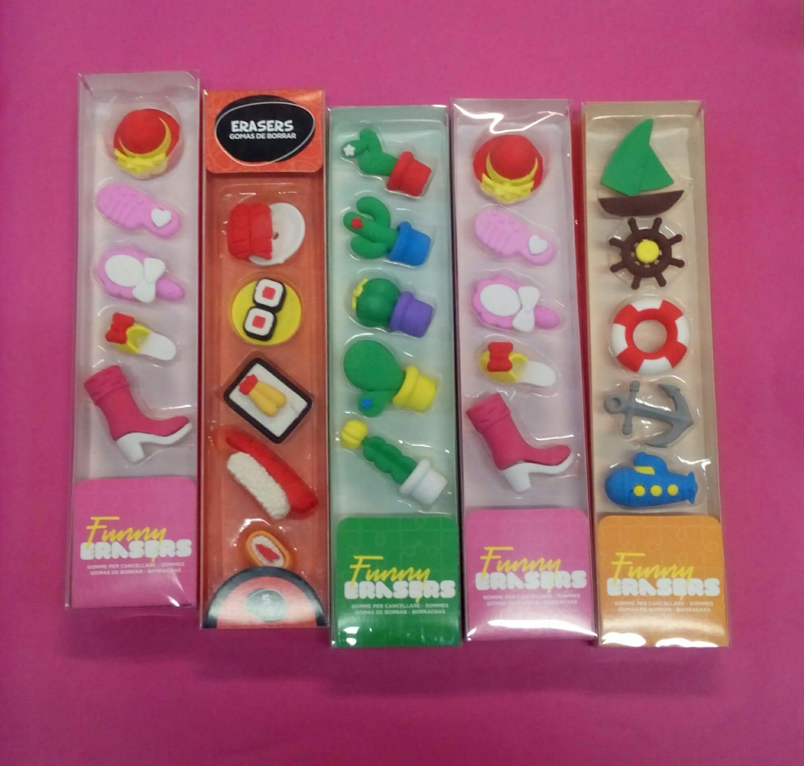 Paquete de gomas con forma individual: 2,50€