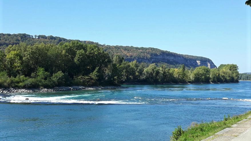 le Rhône à Sault-Brénaz (photo B.Meille)