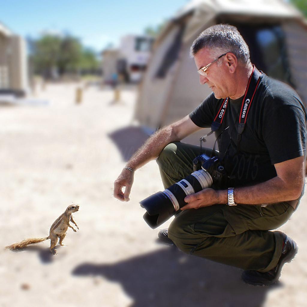 Mimi et petit écureuil africain .
