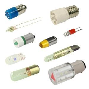 LED und Glühlampe