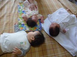 長崎市の託児所キッズルーム花笑のベビーマッサージ教室