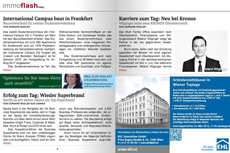 Immobilien Magazin über Roland Wöginger