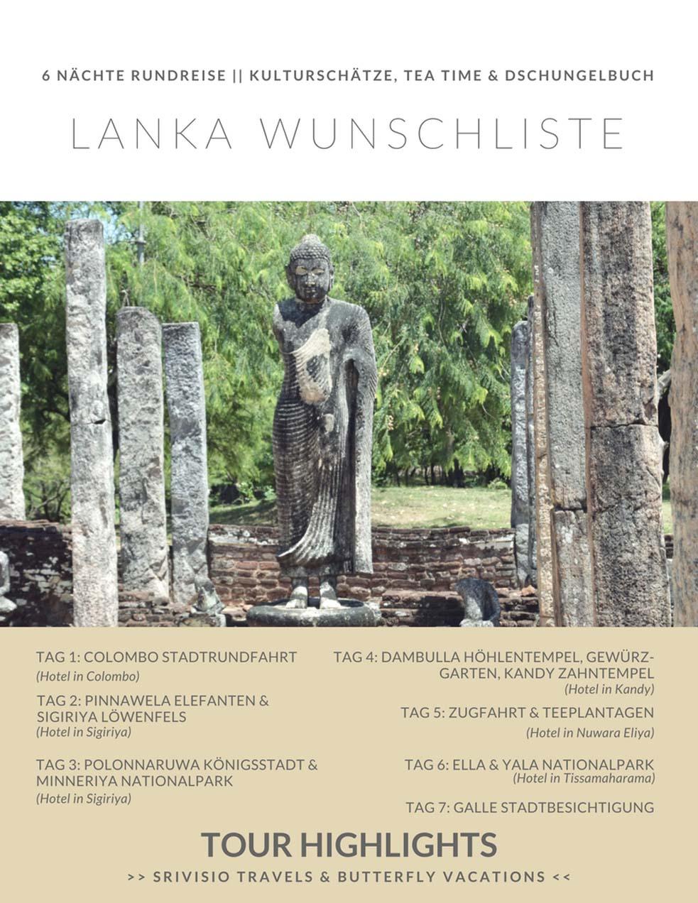 Sri Lanka Wunschliste