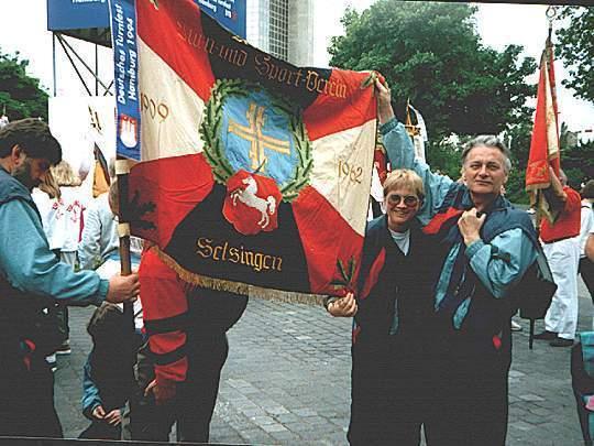 Vereinsflagge des MTSV Selsingen 1984