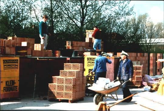 """Baubeginn des neuen Vereinsheims """"Haus im Sick"""" 1991."""