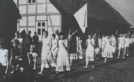 Foto des Vereinssportfestes 1958.