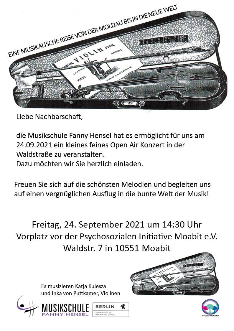 Open Air Musikkonzert im Kiez Waldstrasse 7