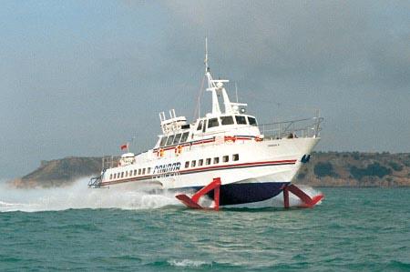 Condor 4 at sea.